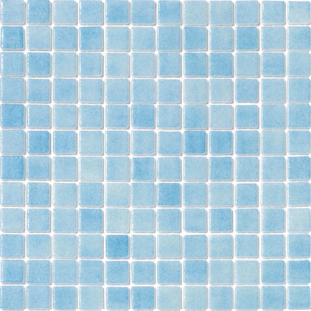 Mosaico para piscina azul celeste, pastillas