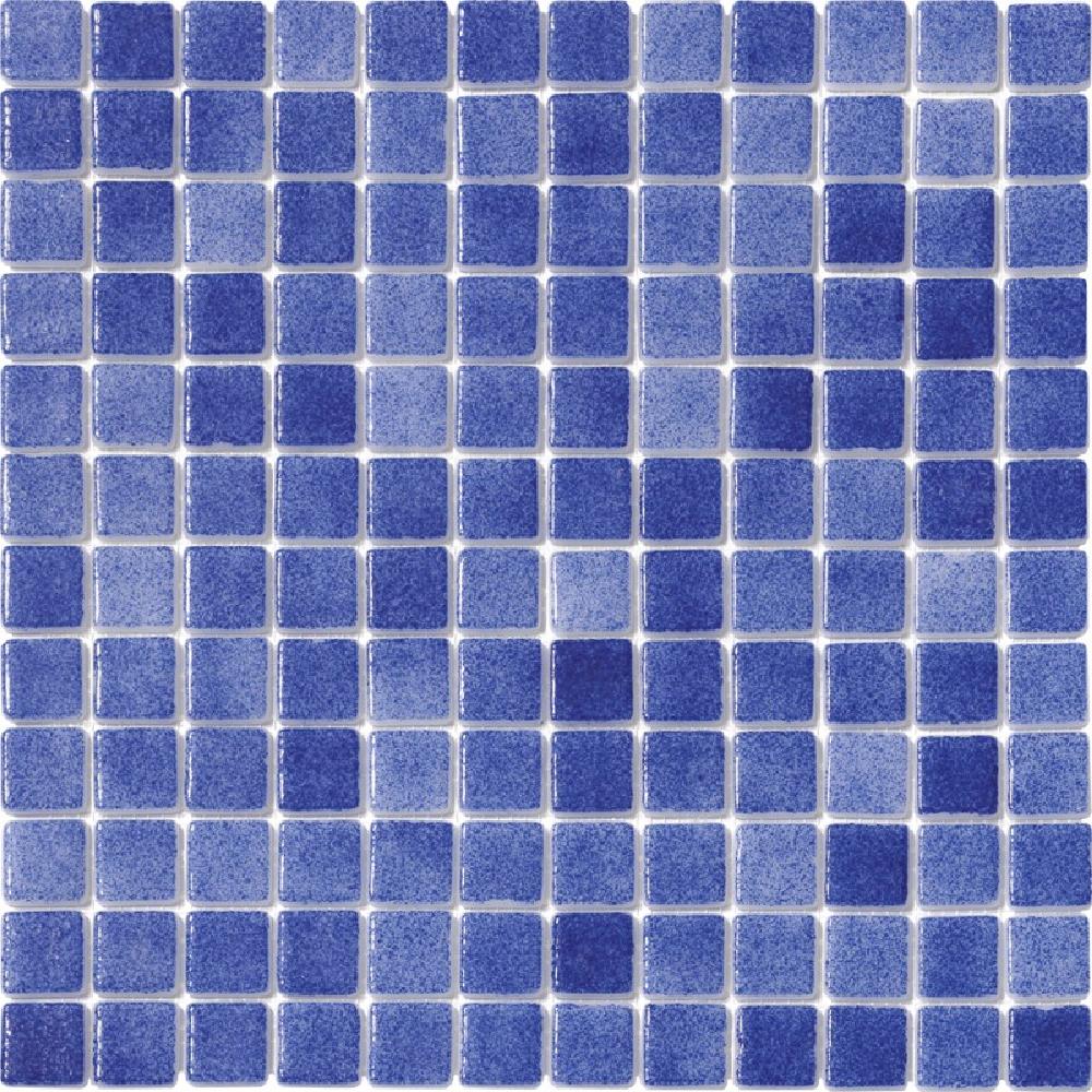 Malla de gresite de vidrio para piscina Azul Marino